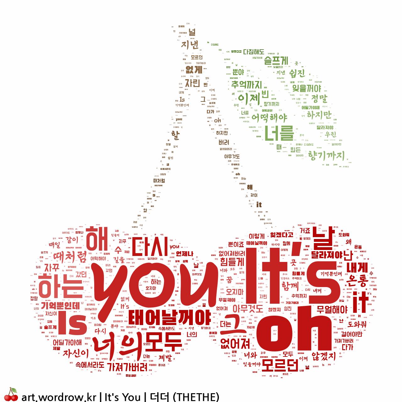 워드 클라우드: It's You [더더 (THETHE)]-57